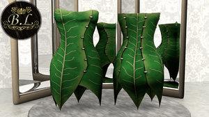 tinkerbell leaf inspired 3d blend
