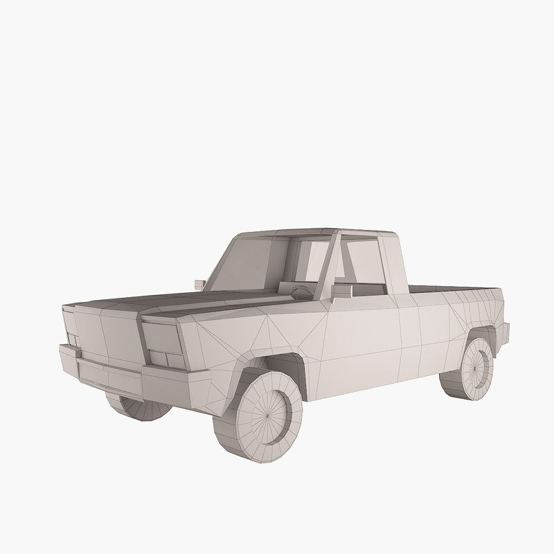 simple pickup truck 3d model
