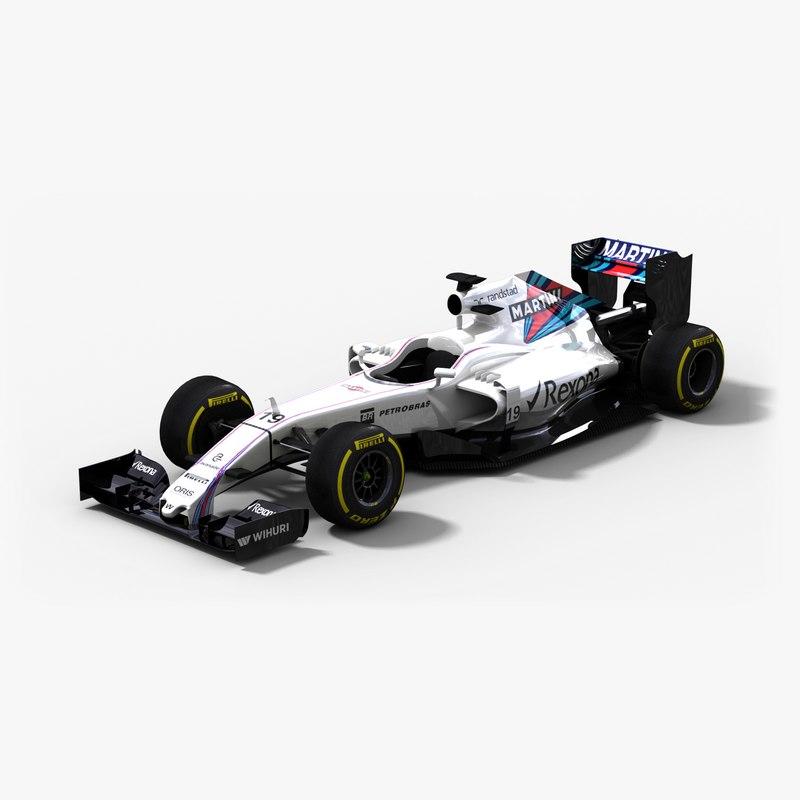 3d williams martini racing fw38