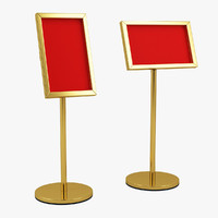 3d signstand stand