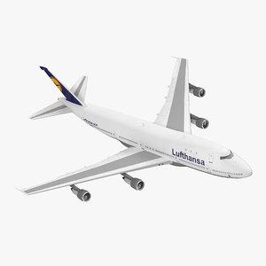 3d boeing 747 100b lufthansa model