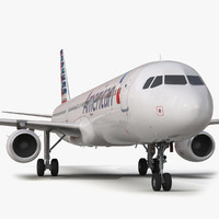 airbus a321 american airlines 3d model