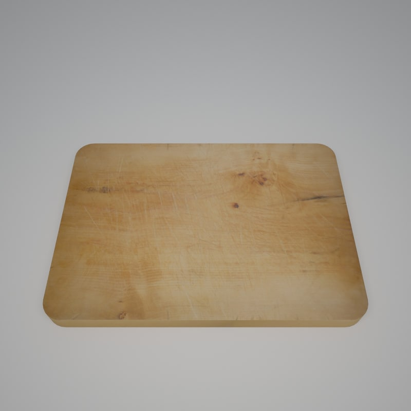 3d v-ray cutting wood board