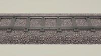 3d train track model