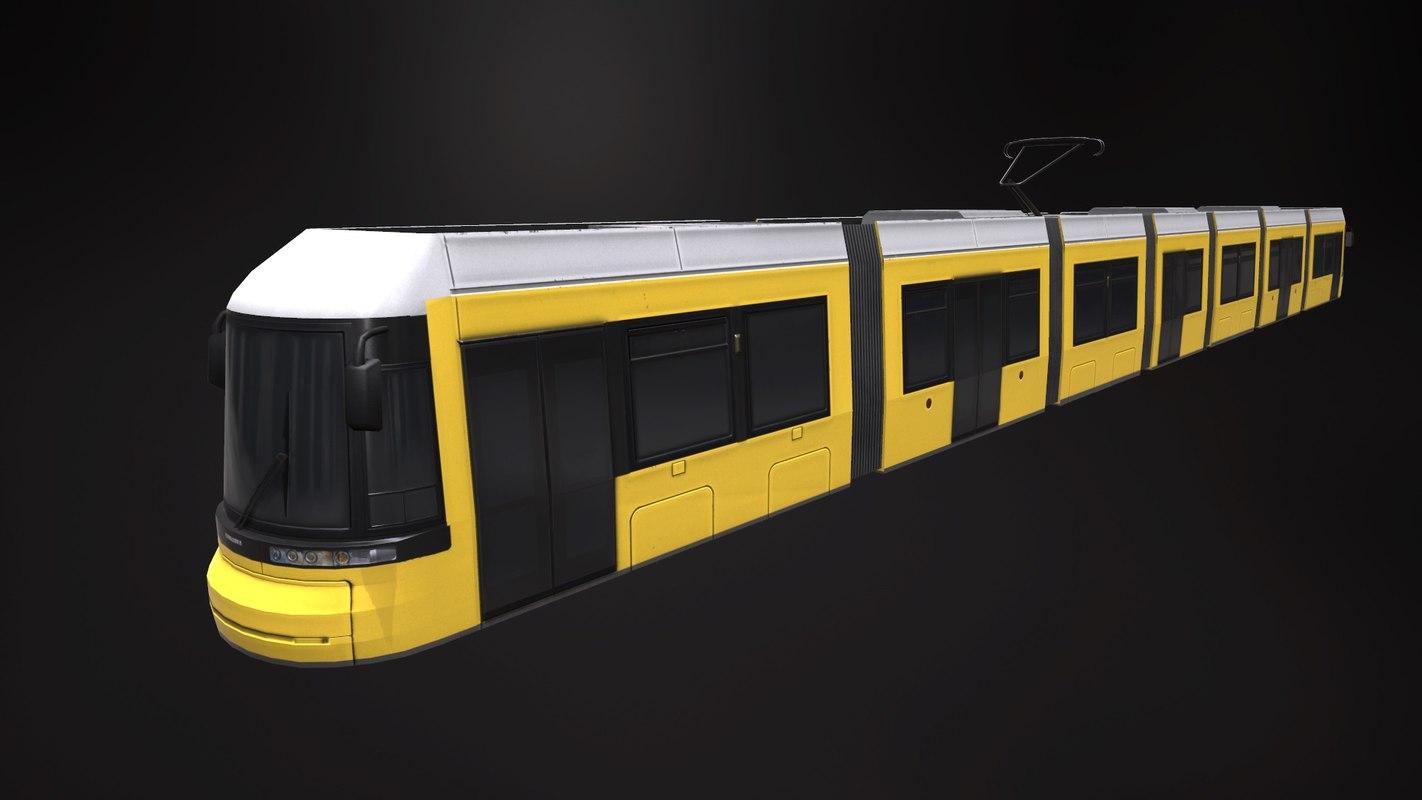 3d model tram bombardier flexity berlin