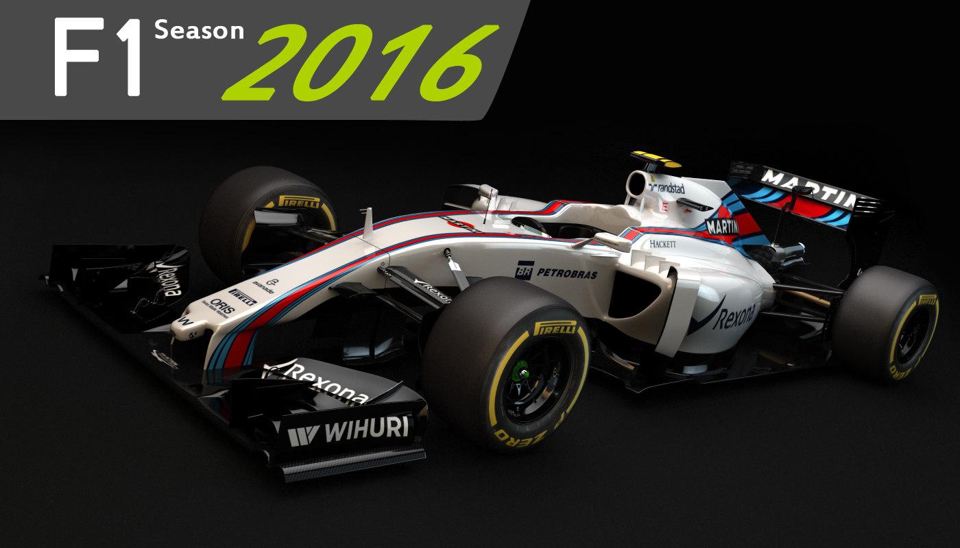 c4d f1 williams martini racing