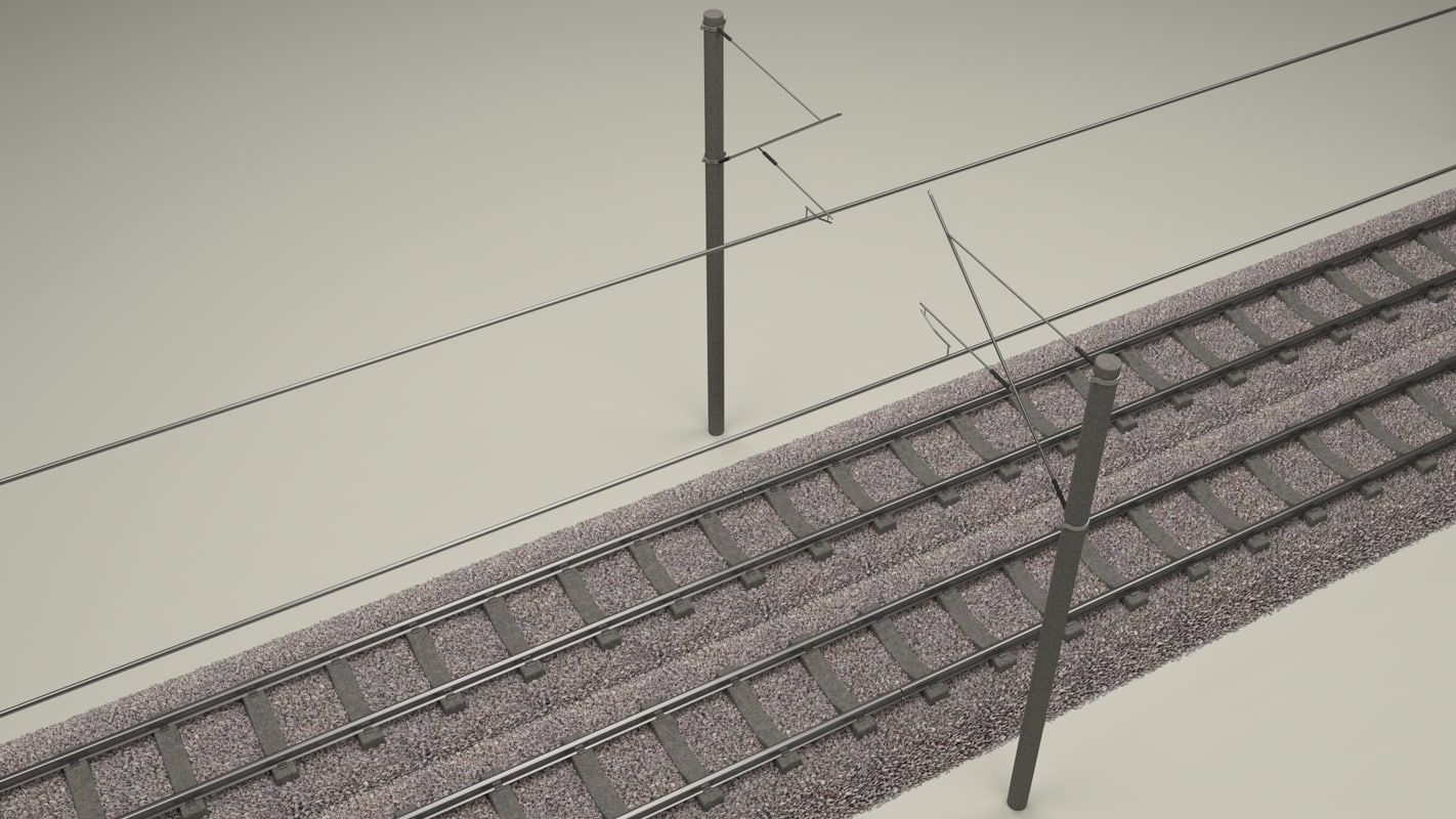 how to draw a 3d train track