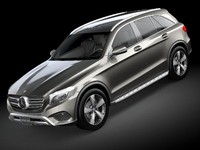 mercedes glc 2016 3d 3ds