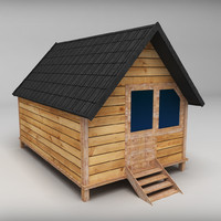 Wooden House Small low poly