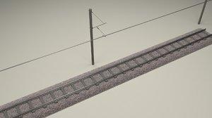 train track 3d obj