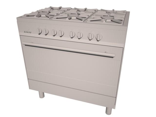 3d model boretti stove