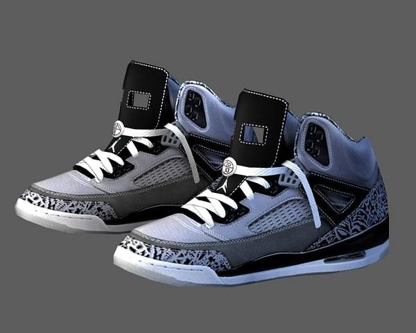 sneaker basketball 3d max
