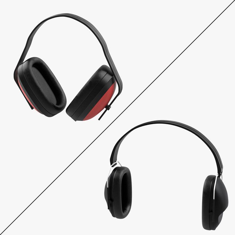 3d model earmuffs ear