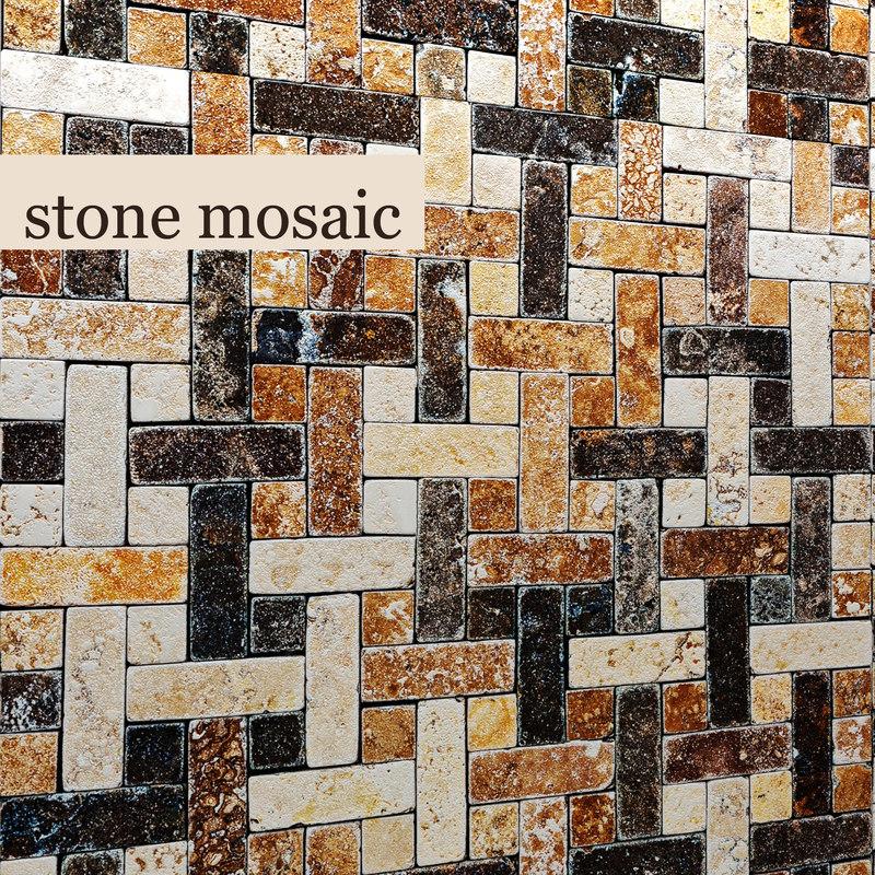 stone mosaic 3d max