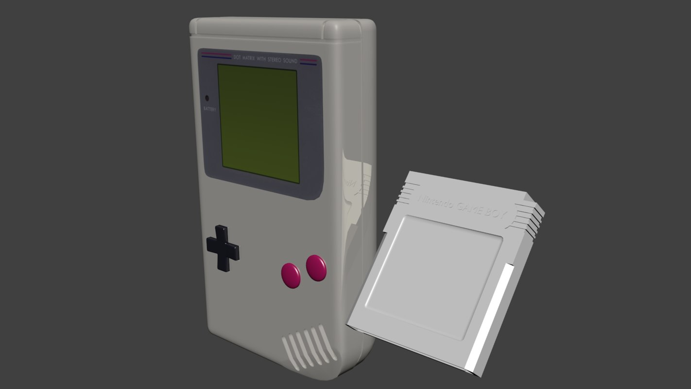 3d nintendo boy cartridge model