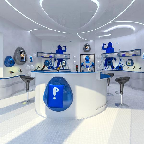 mobile phones shop interior max