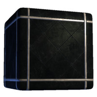 Diamond Marble Tile with Metal Flourishes