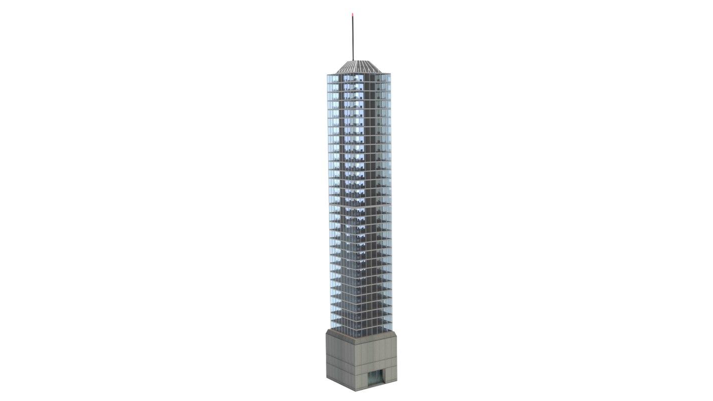 3d model tower block lights