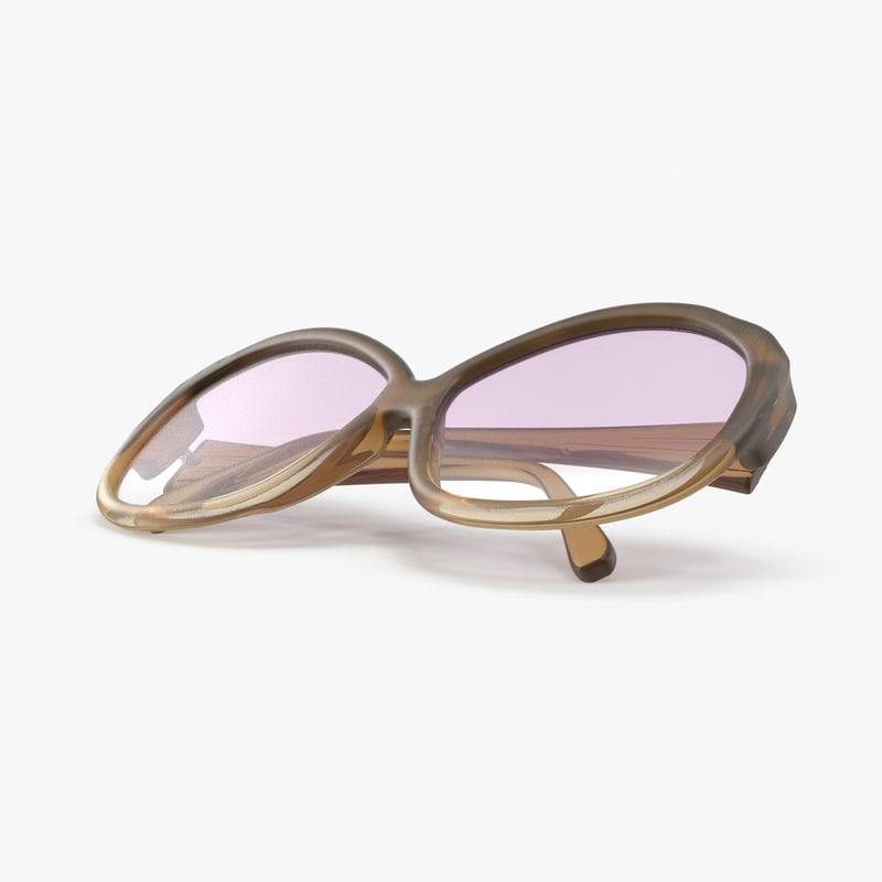 3d bug eye sunglasses folded