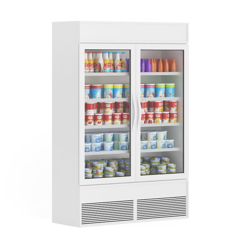 3d model of refrigerator