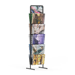 supermarket stand magazines 3d model