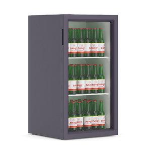 3d market refrigerator beer model