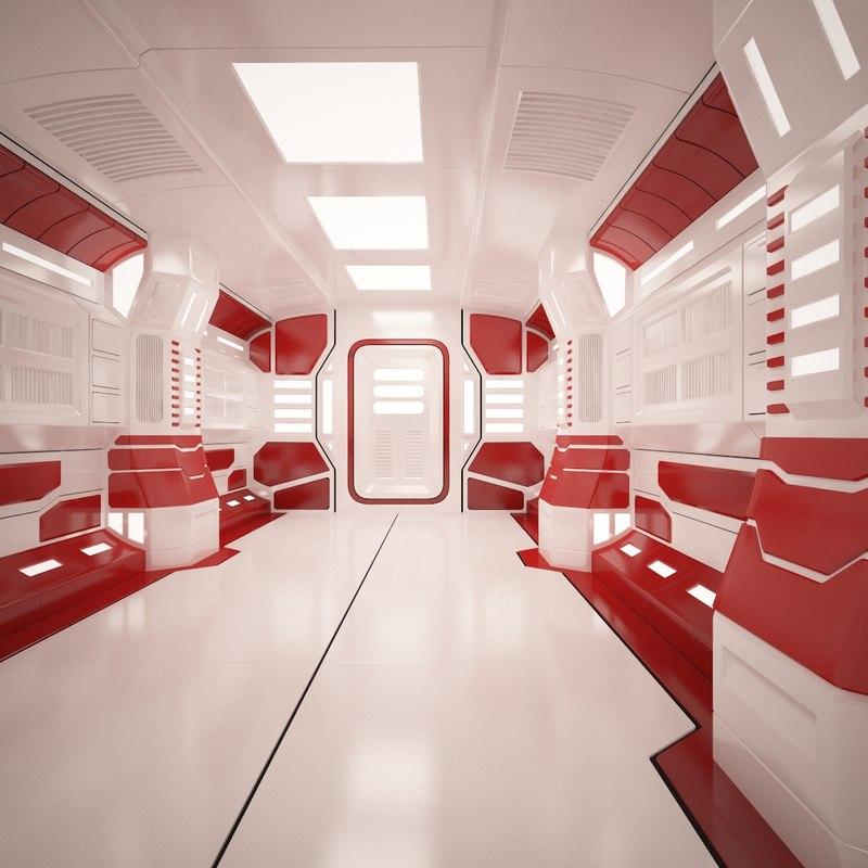 sci fi tunnel 2 3d model