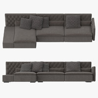 frigerio dominio capitonn sofa 3d model