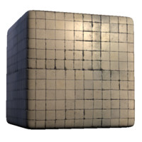 Dirty square white tiles