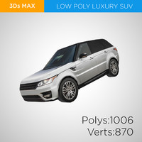 3d european luxury suv model