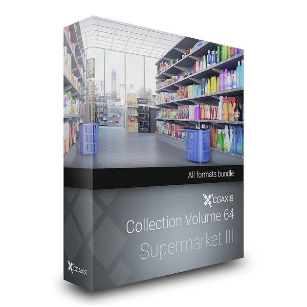 3d model supermarket volume 64 market