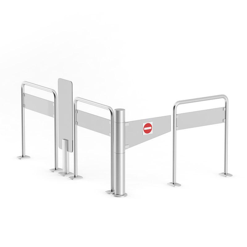 3d model metal exit gate