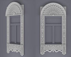 3d window frames