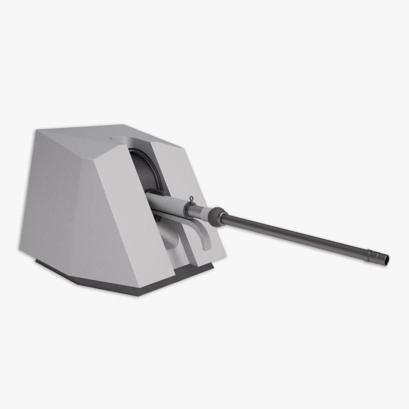 3d model oto melara 76 mm