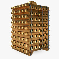 gold blocks 3d model