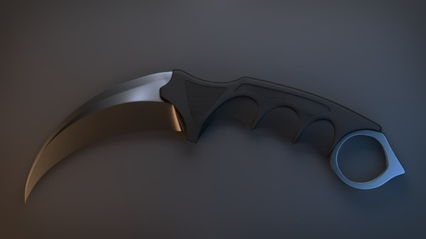 3d knife karambit model