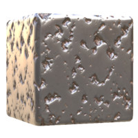 Smooth Pitted Meteorite Metal