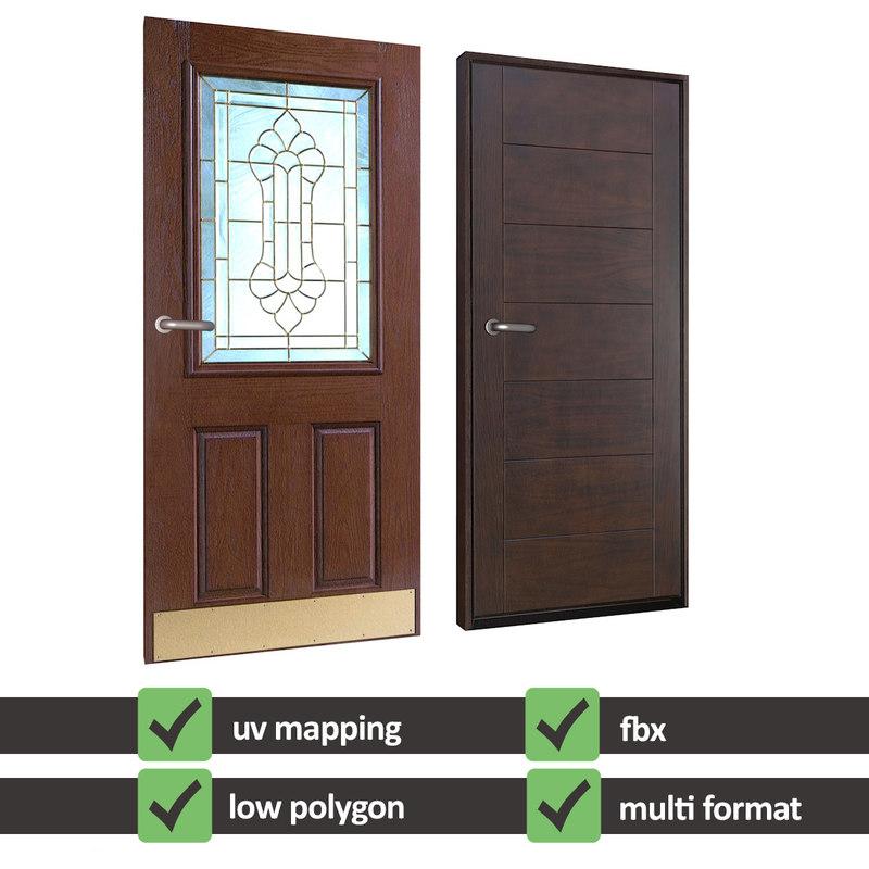 3d model of realistic doors