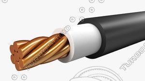 electrical cables single core 3d model