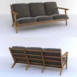 3d brooks long chair
