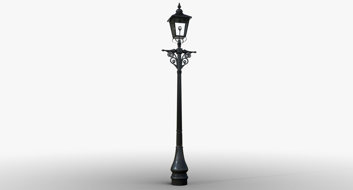 3d victorian lamp post lighting model