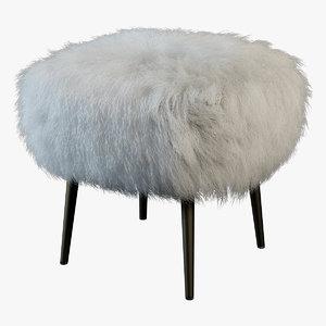 3d model fur chair