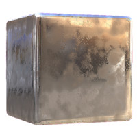 Smudged Chrome Metal