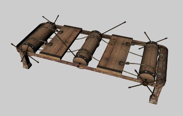 3d model rack torture devices