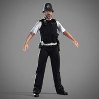3d model metropolitan police officer