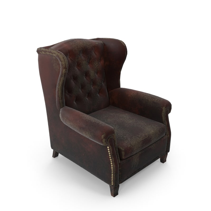 real-time armchair 3d max