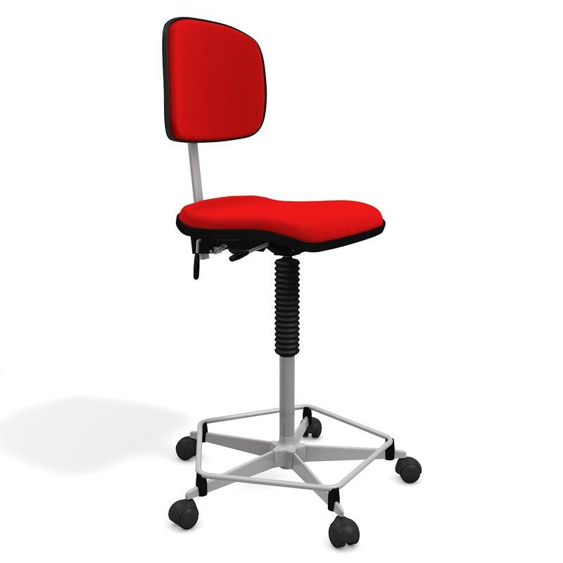 artist adjustable chair stool obj