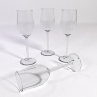 3d white rhenish wine glass