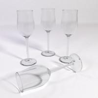 3d white rhenish wine glass