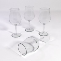 3d burgundi red wine glass model